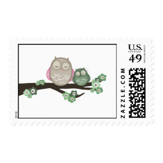 Mama Owl & Baby {Green} | Stamps