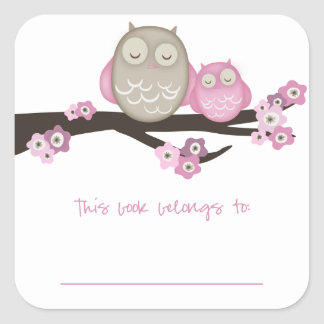 Mama Owl & Baby {Pink} | Bookplates