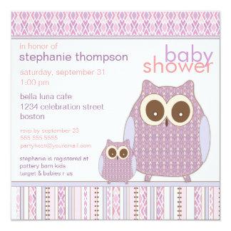 Mamá Owl y fiesta de bienvenida al bebé de la Invitacion Personalizada