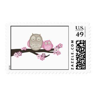 Mamá Owl y sellos del bebé {rosa} el  