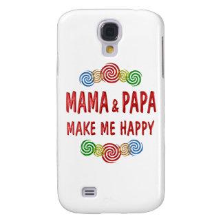 Mamá Papa Happiness Carcasa Para Galaxy S4