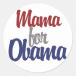 Mamá para Obama Etiqueta Redonda