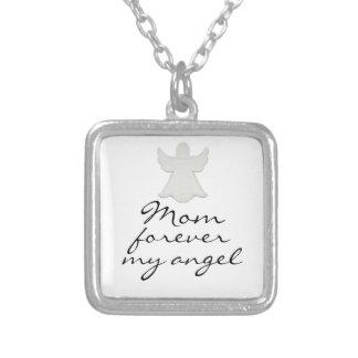 Mamá para siempre mi collar del ángulo