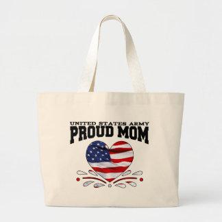 Mamá patriótica del ejército bolsa tela grande