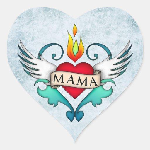 Mamá Calcomanía Corazón