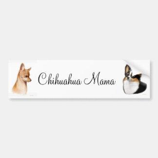 Mamá pegatina para el parachoques de la chihuahua etiqueta de parachoque