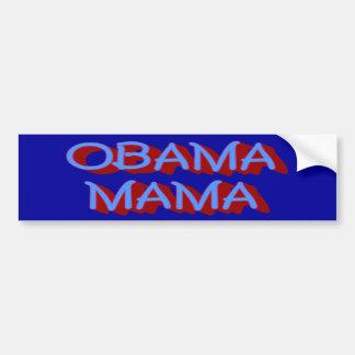 Mamá pegatina para el parachoques de Obama Etiqueta De Parachoque