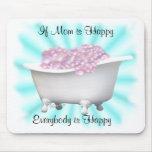 Mamá-personalizar feliz tapetes de raton