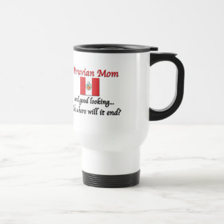 Mamá peruana apuesta taza de viaje