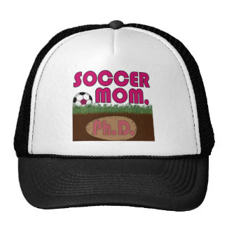 Mamá PhD del fútbol (Rosada-Bauhs) Gorro De Camionero