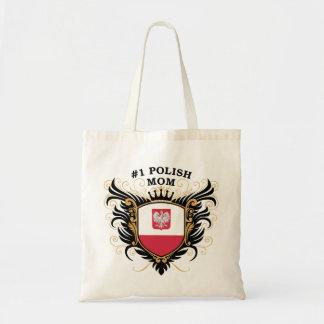 Mamá polaca del número uno bolsa tela barata