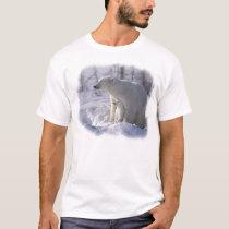 Mama Polar bear and cub T-Shirt