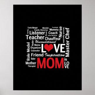 Mamá polivalente - el día de madre o el cumpleaños póster