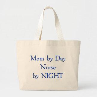 Mamá por día bolsa tela grande