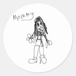 Mamá por el cometa pegatina redonda