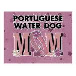 MAMÁ portuguesa del perro de agua Postal