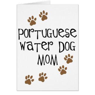 Mamá portuguesa del perro de agua felicitaciones