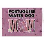 MAMÁ portuguesa del perro de agua Tarjeta De Felicitación
