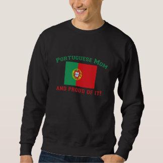 Mamá portuguesa orgullosa sudadera con capucha