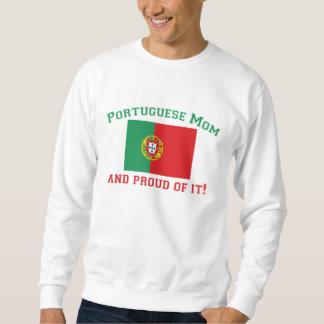 Mamá portuguesa orgullosa sudaderas encapuchadas