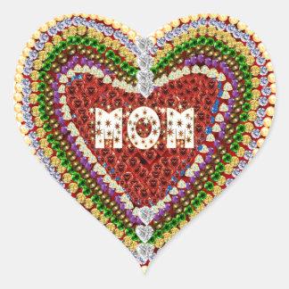 Mamá preciosa pegatinas corazon