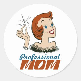 Mamá profesional pegatina redonda