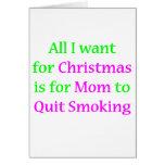 ¡Mamá que fuma abandonada! Felicitación