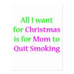 ¡Mamá que fuma abandonada! Postal