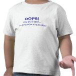 Mamá que tiene Brother Bebé-Grande Camiseta