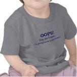 Mamá que tiene Brother Bebé-Grande Camisetas