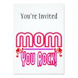 Mamá que usted oscila invitación 12,7 x 17,8 cm