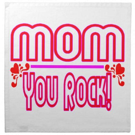 Mamá que usted oscila servilleta de papel