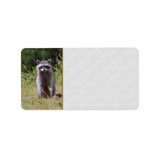 Mama Raccoon Address Label