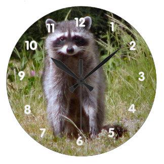 Mama Raccoon Wall Clocks