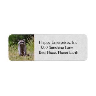 Mama Raccoon Return Address Label