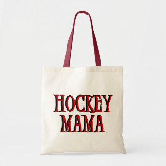 Mamá Red T-shirts y regalos del hockey Bolsa Tela Barata