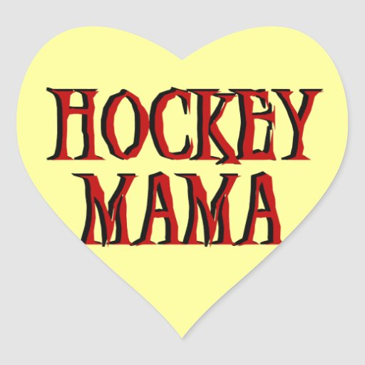 Mamá Red T-shirts y regalos del hockey Pegatina Corazón Personalizadas