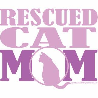 Mamá rescatada del gato escultura fotografica