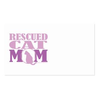 Mamá rescatada del gato tarjetas de visita