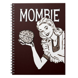 Mamá retra del zombi de Mombie Libreta Espiral