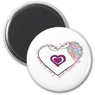 Mama Reveal Drawing and Poem 2 Inch Round Magnet
