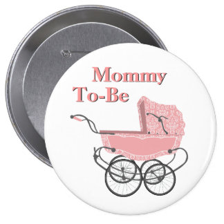 Mamá rosada del cochecito de niño del vintage a se pins