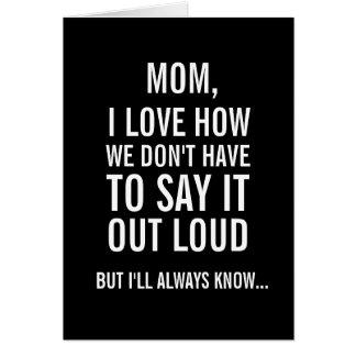 Mamá, sabré siempre… Tarjeta divertida del día de