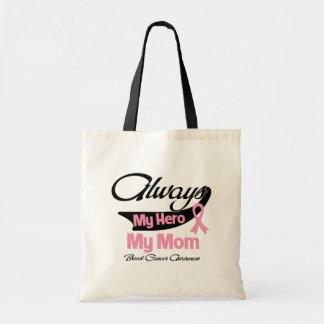 Mamá - siempre mi héroe - cáncer de pecho bolsa