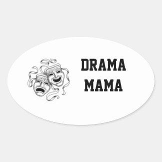 Mamá Sticker del drama Pegatina Ovalada