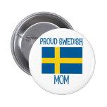 Mamá sueca orgullosa pins