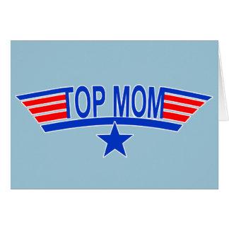 Mamá SUPERIOR de los militares de la MAMÁ Tarjeta De Felicitación
