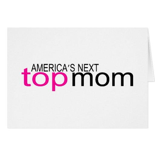 Mamá superior siguiente de Américas Tarjeta De Felicitación