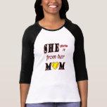 Mamá T del softball Camisetas