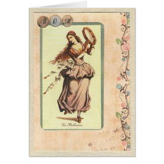 Mamá, tarjeta de felicitación de la bailarina del